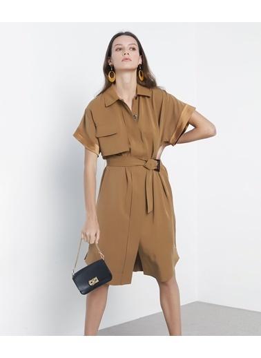 Ipekyol Kemerli Gömlek Elbise Renksiz